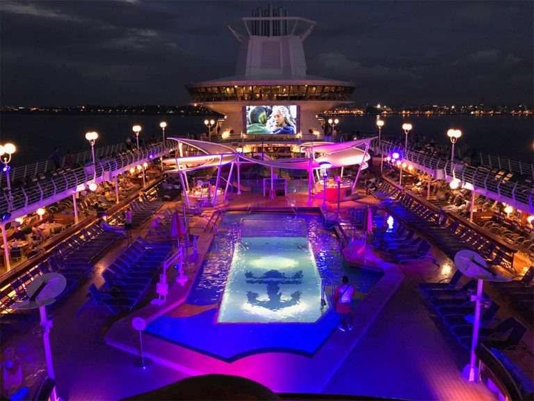 Majesty of the Seas Pool Night